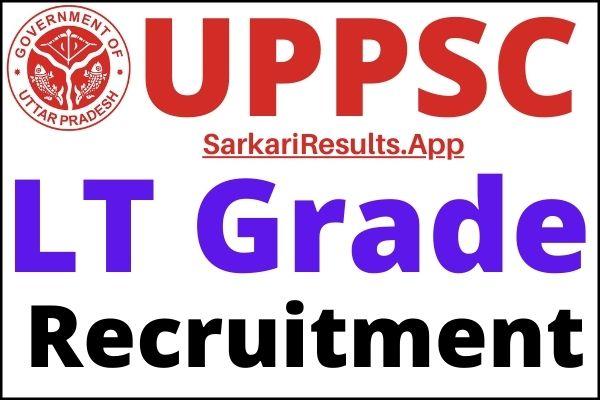 UPPSC LT Grade Teacher Vacancy 2021
